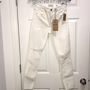 Lucky Brand Bridgette Skinny White Jeans 0 25 NWT
